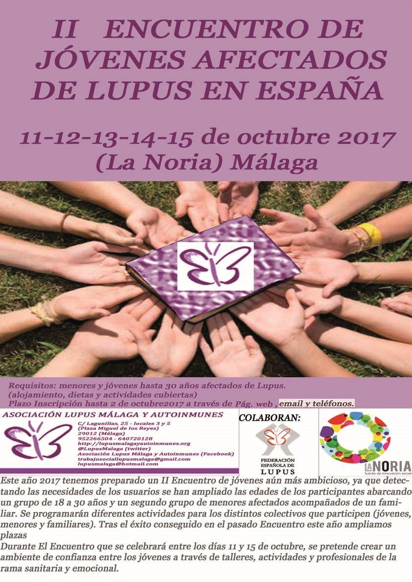 """""""II ENCUENTRO  DE JÓVENES AFECTADOS DE LUPUS EN ESPAÑA"""""""