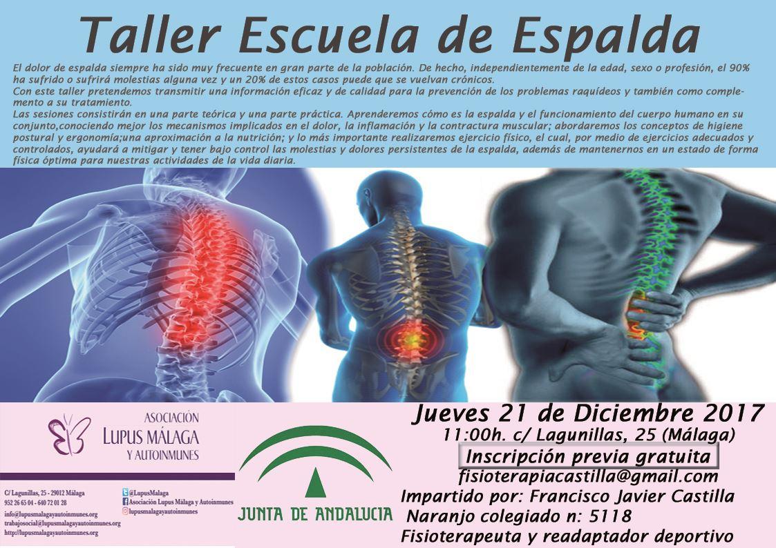 """""""Taller de Escuela de Espalda"""""""