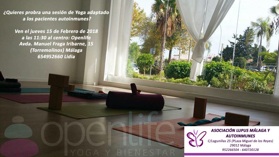 """Sesión de Yoga para pacientes autoinmunes"""