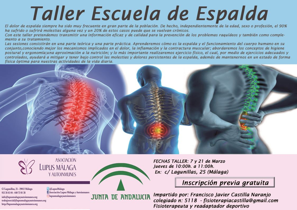 """""""Taller Escuela de Espalda"""""""