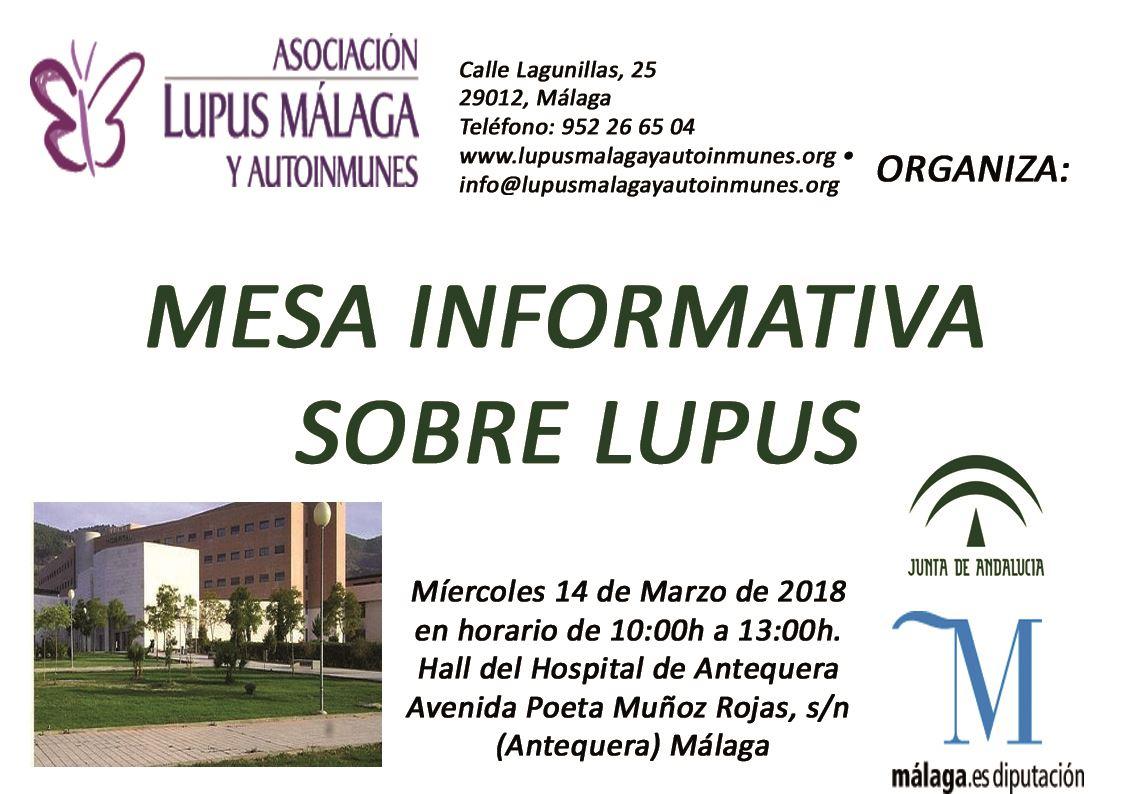 """""""Mesas informativas"""" Antequera y Humilladero"""