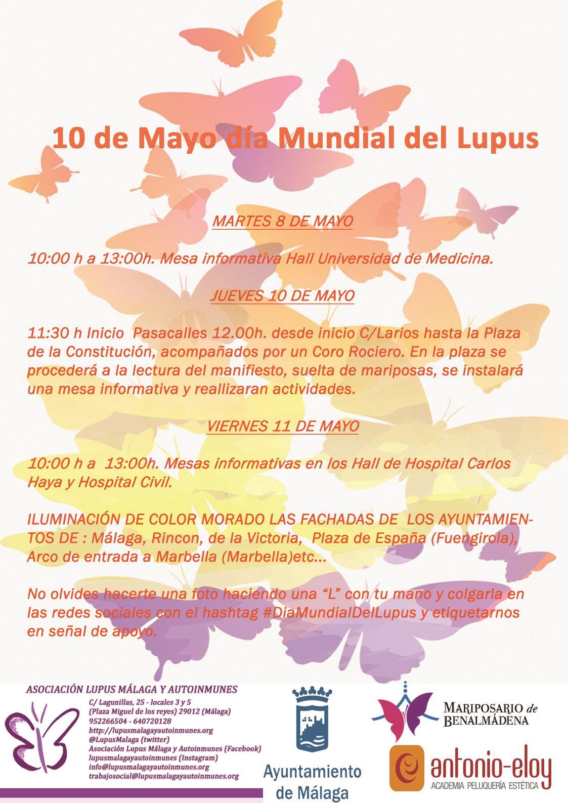 Actividades celebración 10 de Mayo: Día Mundial del Lupus