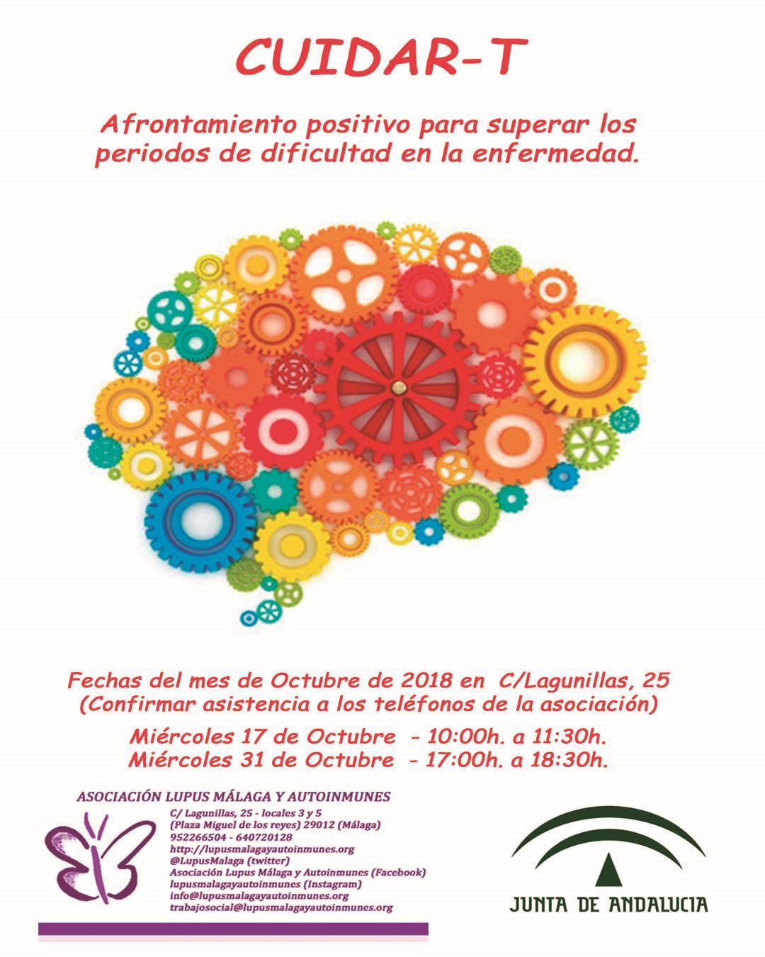 CUIDAR-T Taller de afrontamiento positivo para superar periodos de dificultad en la enfermedad.