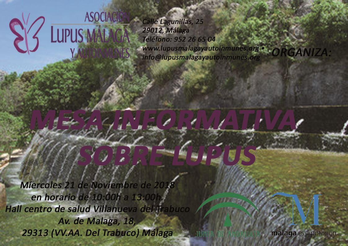 Mesa informativa Villanueva del Trabuco 21 de Noviembre