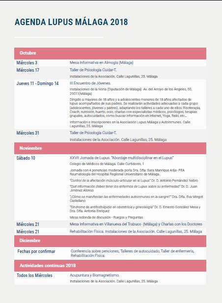 Boletín Boiron – Agenda eventos último trimestre