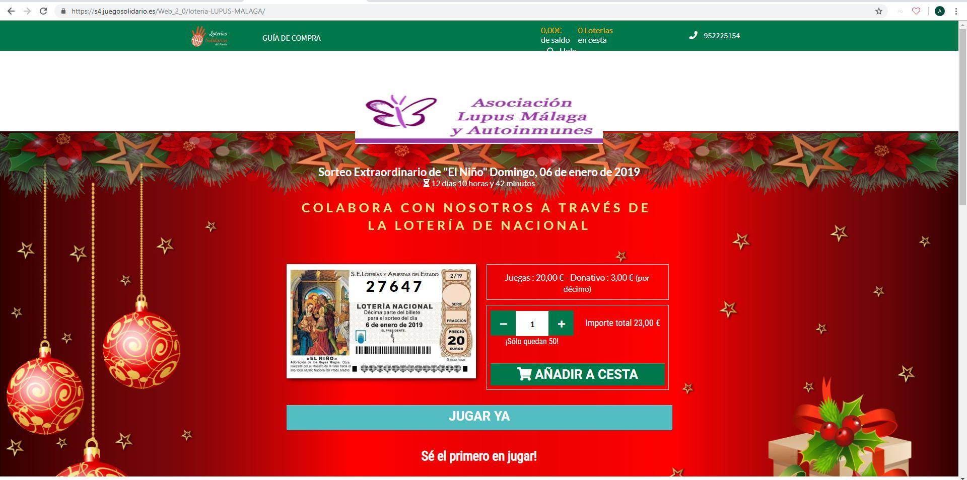Lotería: Décimo agraciado y Lotería del Niño