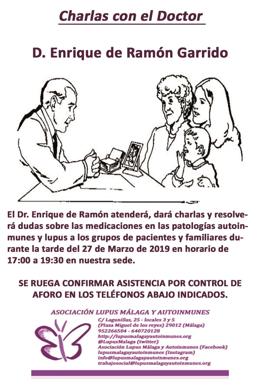 Charlas con el Dr. D. Enrique de Ramón Garrido