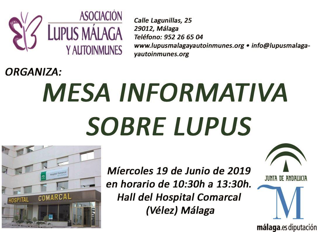 Mesa Informativa Hospital de la Axarquí (Vélez Málaga)