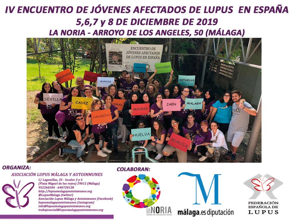 Enlace de inscripción al IV Encuentro de jóvenes afectados de Lupus en España.