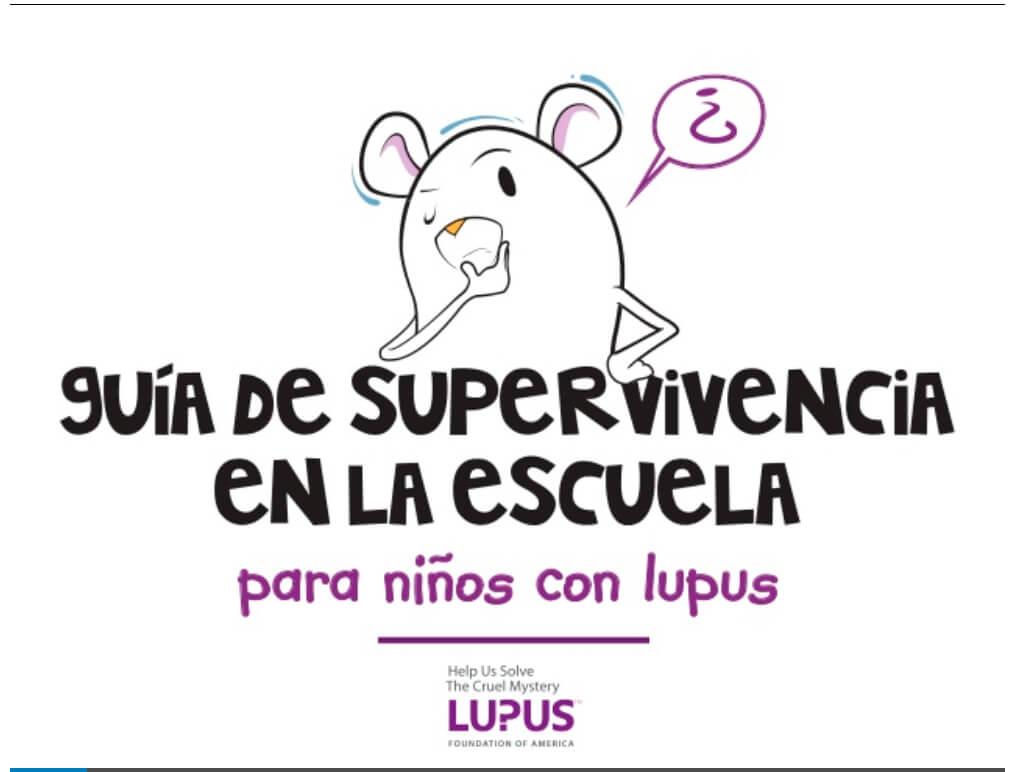 Modelo carta explicativa al profesorado de alumnos con Lupus y guía de pacientes escolarizados.