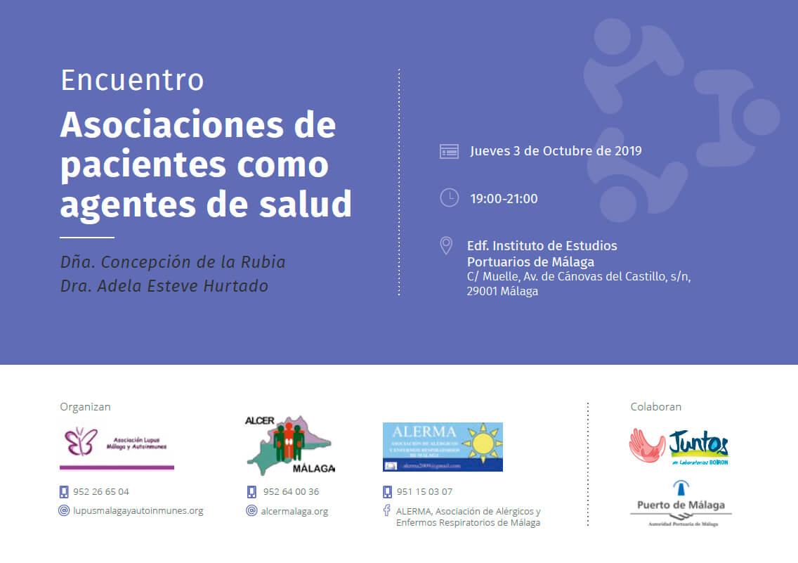 Encuentro: Asociaciones de pacientes como agentes de salud.