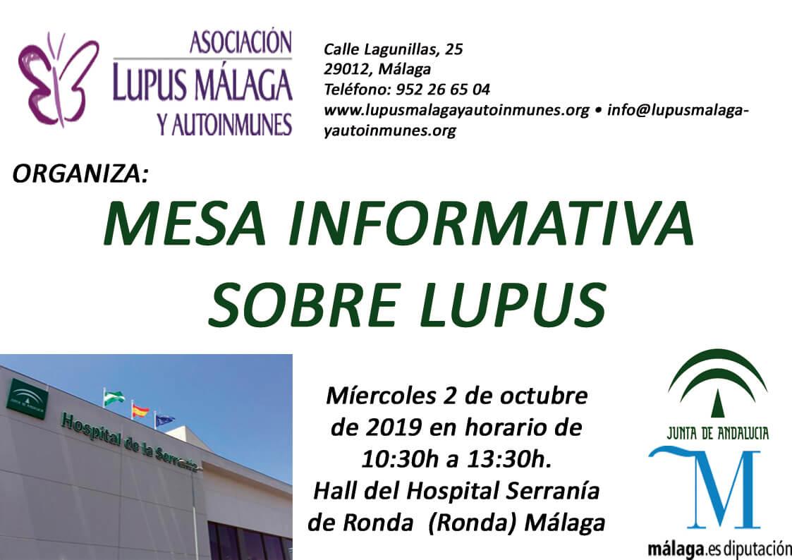 Mesa informativa Hospital de la Serranía de Ronda