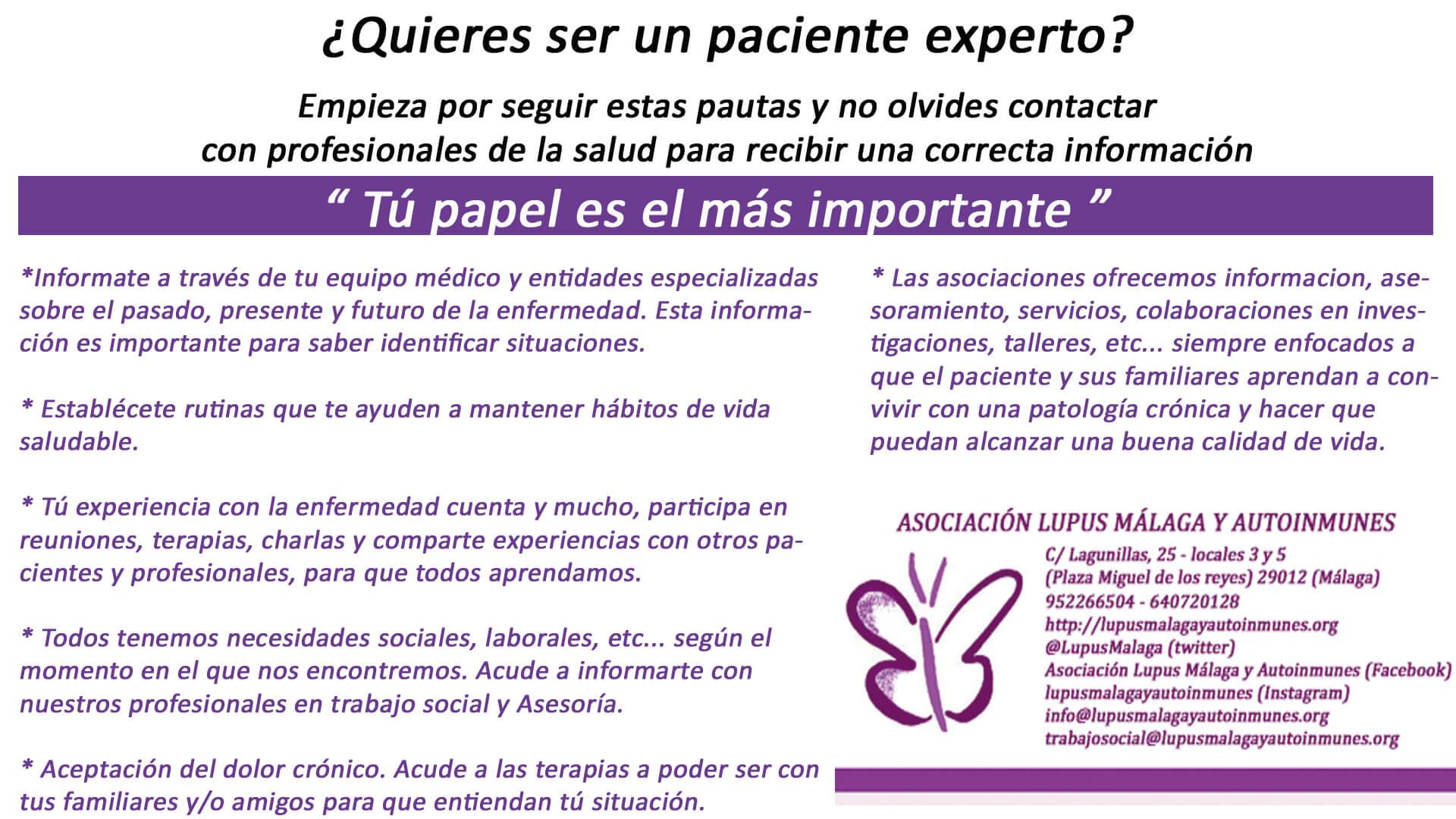 Importancia de ser un paciente experto