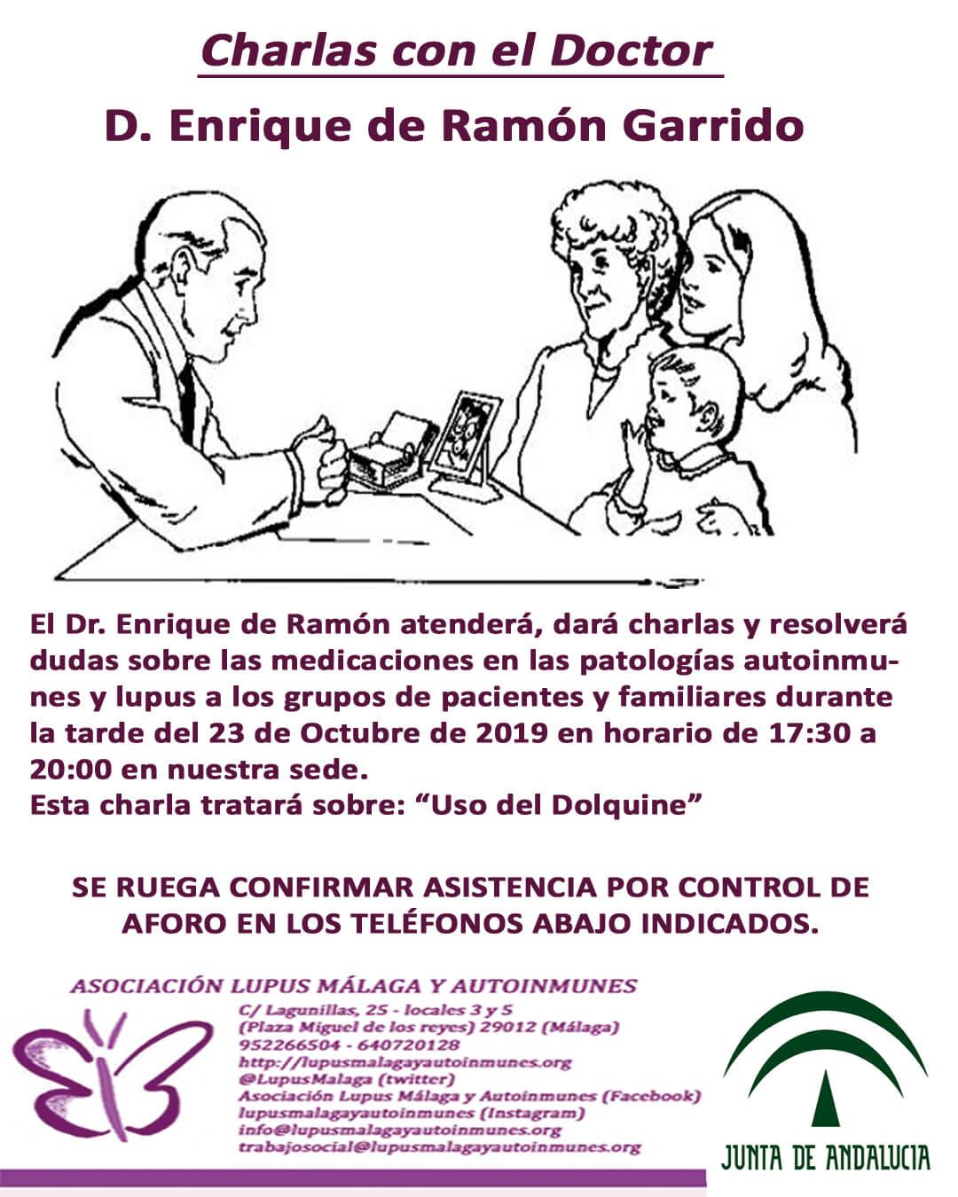 """Charlas con el Dr. Enrique de Ramón – Tema: """"Uso del Dolquine"""""""