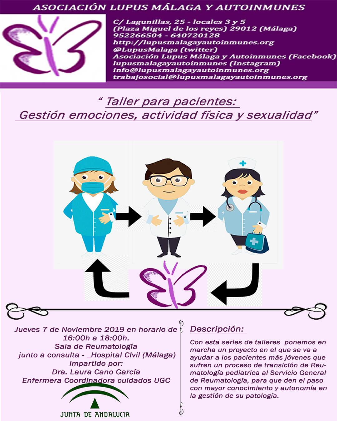 """Taller para pacientes """"Gestiones de emociones, actividad física y sexualidad"""""""