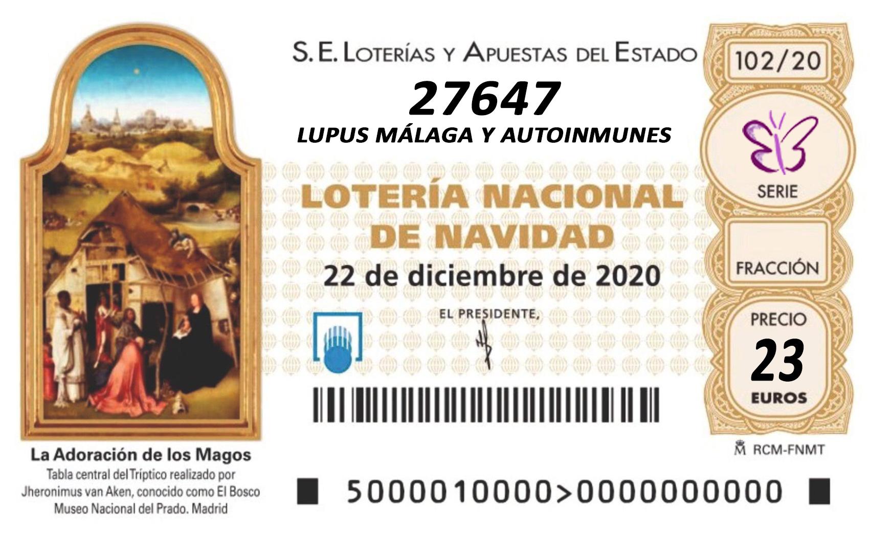 Lotería de Navidad 2020 Asociación