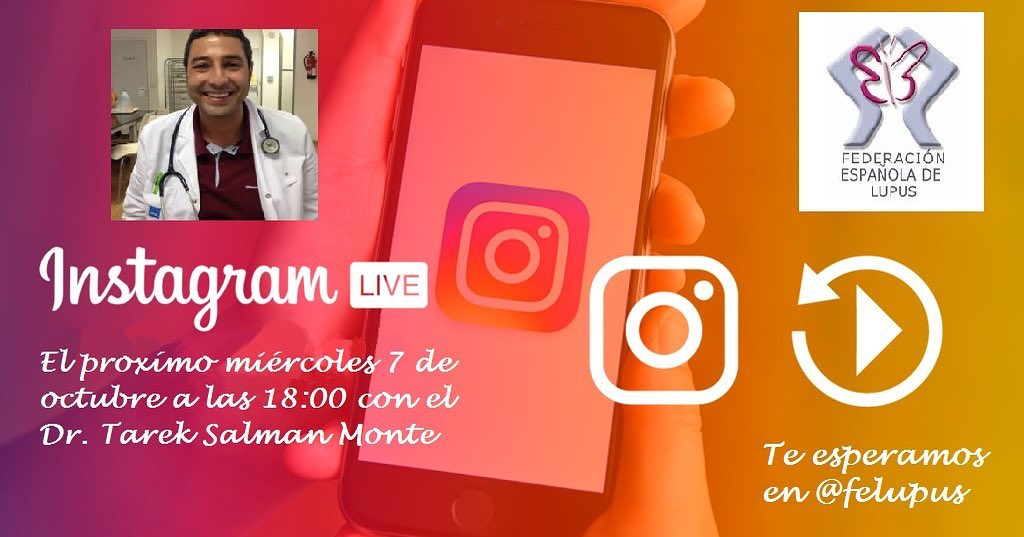 Charla en instagram – ACTIVIDAD y REMISIÓN en el LUPUS día 7 de Octubre de 2020