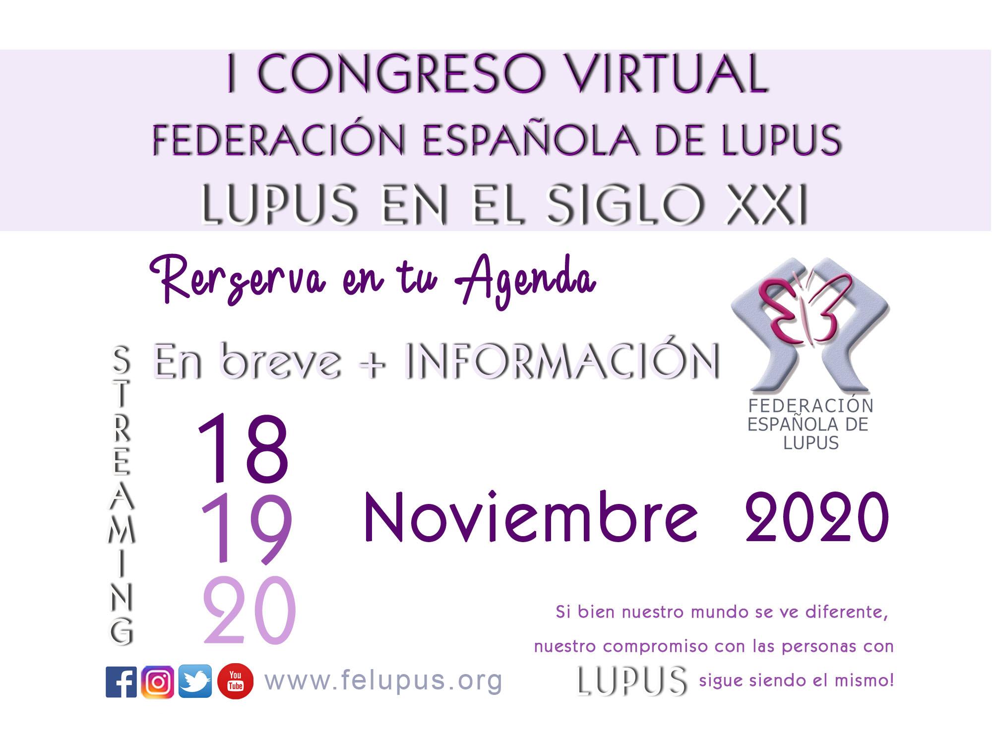 """1er Congreso Virtual FELUPUS """"El Lupus en el Siglo XXI"""""""