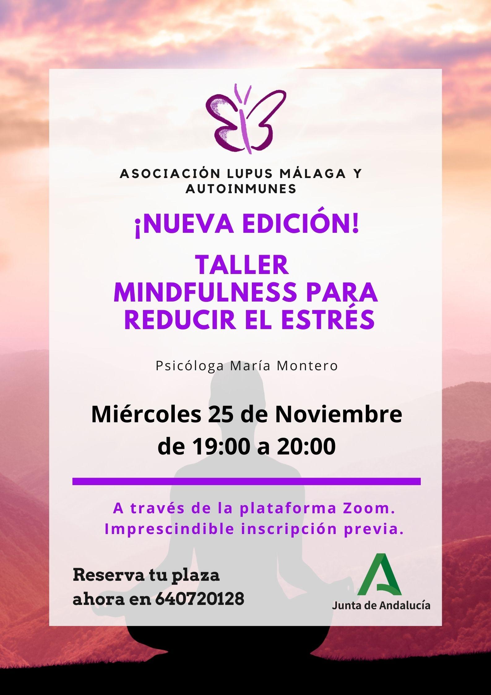 """Taller Psicología – """"Mindfulness para reducir el Estrés"""" – Nueva edición"""