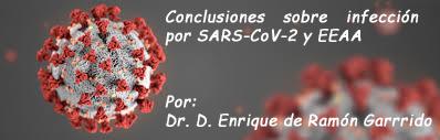 Conclusiones sobre infección por SARS-CoV-2 y EEAA
