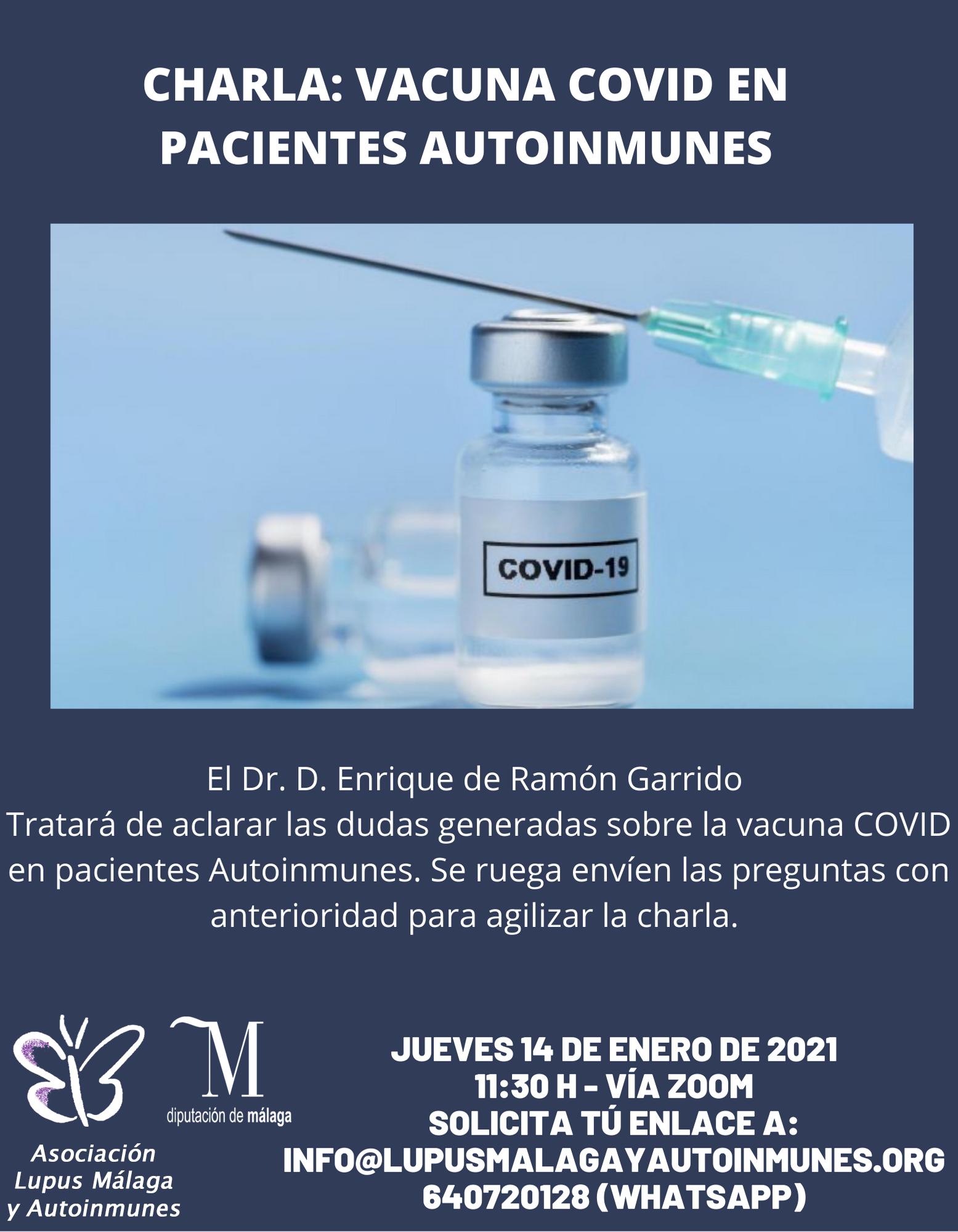 Charla sobre Vacunas COVID en pacientes Autoinmune