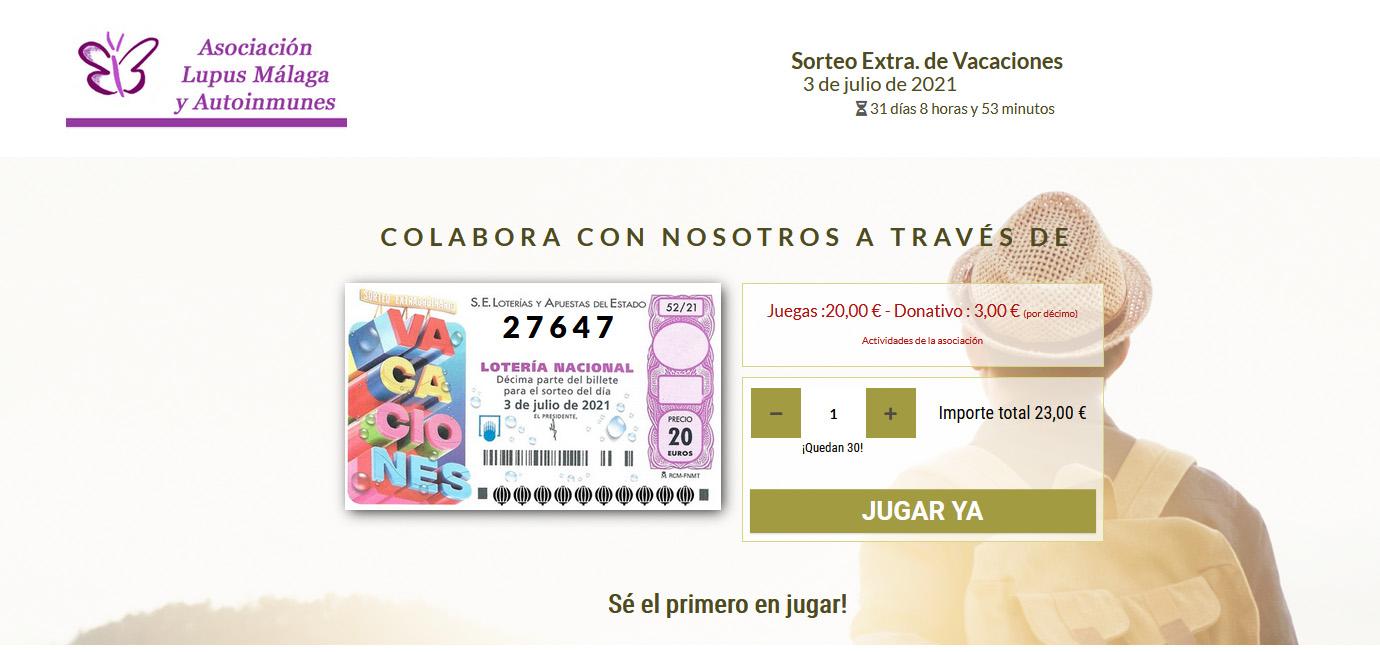 Sorteo Especial de Verano. Lotería Nacional